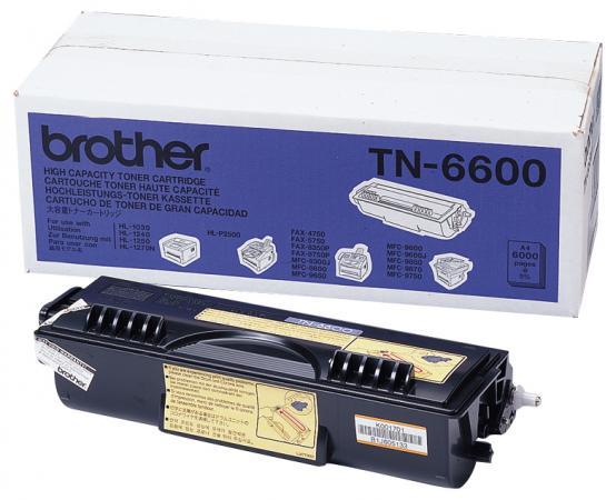 Картридж Brother TN-6600 для MFC-8350/8750/9600/9650/9750/9850/9870/9660/9760/9860/9880//HL-1030/1230/1240/1250/1270N/1430/1440/1450/1470N/5030/5040/5050 черный 6000стр картридж brother tn6300 для fax4750 8360p mfc8600 9600 9660 9880 hl1200 1400