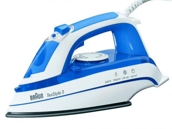 лучшая цена Утюг Braun TexStyle TS355(A) 2000Вт белый синий