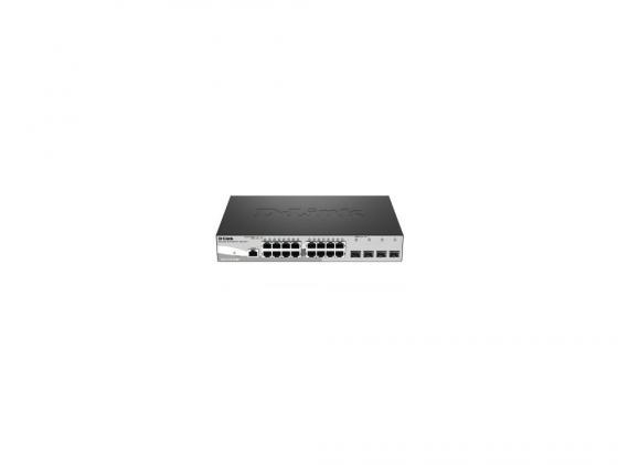Коммутатор D-Link DGS-1210-20/ME/A1A управляемый 16 портов 10/100/1000Mbps 4хSFP коммутатор d link dgs 1210 20 me a1a
