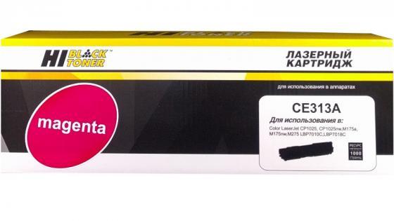 Картридж Hi-Black CE313A для HP CLJ CP1025/CP1025nw/Canon LBP-7010C/7018C M 1 K с чипом canon 712 1870b002 black картридж для принтеров lbp 3010 3020