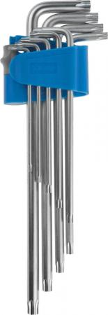 Набор ключей Зубр ЭКСПЕРТ имбусовых 9шт 27467-H9 набор г образных ключей торкс t10 t50 9шт jtc 5354