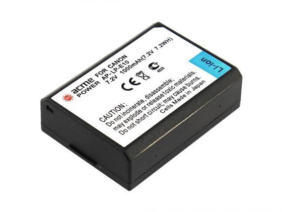 Аккумулятор AcmePower AP-LP-E10 для фотокамеры Canon аккумулятор для телефона acmepower ap lp e5