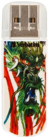 Флешка USB 8Gb Verbatim Store n Go Mini Tattoo Edition Dragon 49884 USB2.0 белый флеш накопитель verbatim 8gb mini tattoo edition usb 2 0 дракон 49884