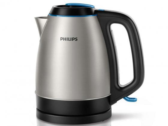 Чайник Philips HD HD9302/21 2200 Вт 1.5 л металл серебристый чёрный чайник электрический philips hd9302