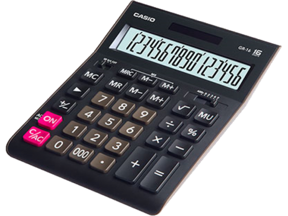 Калькулятор Casio GR-16 16-разрядный черный casio casio gr 7900nv 2