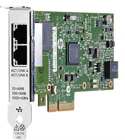 Адаптер HP Ethernet 1Gb 2P 361T Adptr 652497-B21 плата коммуникационная hp ethernet 1gb 4p 366m adapter 615729 b21