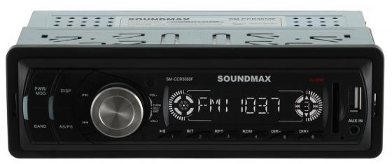 Автомагнитола Soundmax SM-CCR3050F USB MP3 FM SD MMC 1DIN 4x45Вт черный