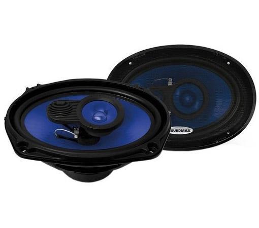 Автоакустика Soundmax SM-CSE693 коаксиальная 3-полосная 15-23см 110Вт-220Вт цена