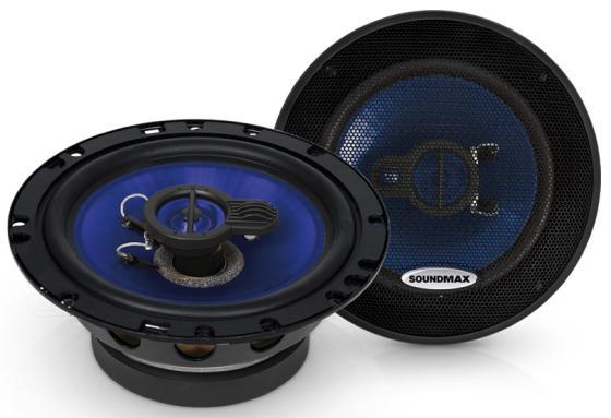 Автоакустика Soundmax SM-CSE603 коаксиальная 3-полосная 16см 110Вт-220Вт автоакустика kenwood kfc m6944a коаксиальная 4 полосная 6х9 110вт 460вт