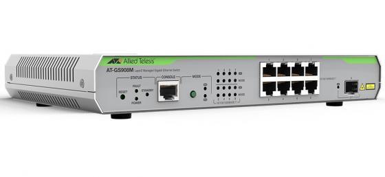 Коммутатор Allied Telesis AT-GS908M-50 управляемый 8 портов 10/100/1000TX 1xSFP коммутатор allied telesis at fs970m 16f8 lc 50 управляемый 19u 8x10 100base tx