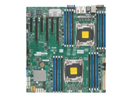 Материнская плата Supermicro X10DRI-T Socket 2011-3 C612 16xDDR4 3xPCI-E 16x 10xSATAIII EATX Retail цена