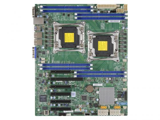 лучшая цена Материнская плата Supermicro MBD-X10DRL-I-O 2 х Socket 2011-3 C612 8xDDR4 1xPCI-E 16x 5xPCI-E 4x 10xSATAIII ATX Retail