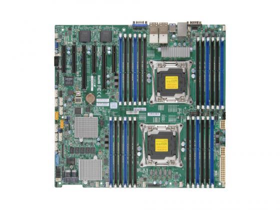 Материнская плата Supermicro MBD-X10DRI-LN4+-O 2 х Socket 2011-3 C612 24xDDR4 2xPCI-E 16x — 10xSATAIII EATX Retail