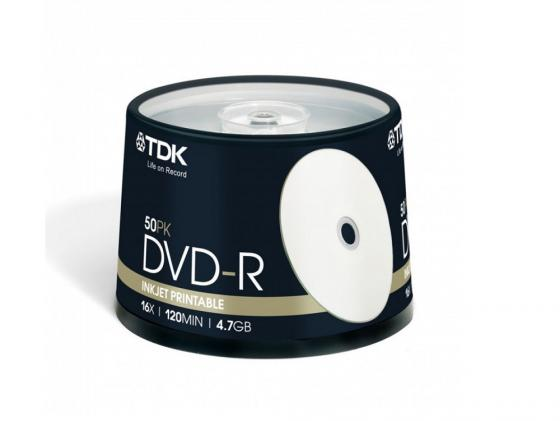 Диски DVD-R TDK 16x 4.7Gb CakeBox 50шт DVD-R47PWCBED50 t19914