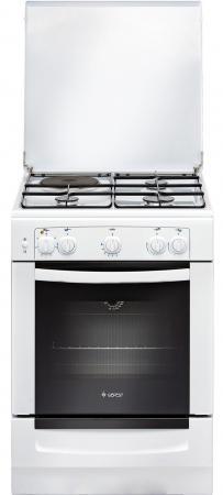 Комбинированная плита Gefest ПГЭ 6110-01 0005 белый комбинированная плита gefest пгэ 5102 02
