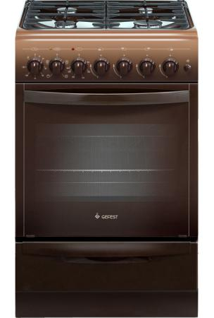 Комбинированная плита Gefest ПГЭ 5102-02 0001 коричневый цена в Москве и Питере