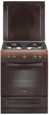 Газовая плита Gefest ПГ 6100-01 0001 коричневый плита газовая gefest 6100 03 0001 6100 03 к