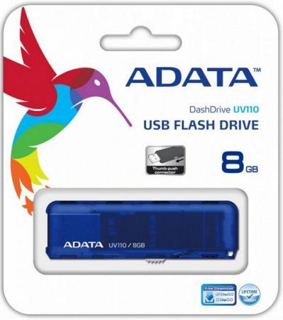 Флешка USB 8Gb A-Data UV110 USB2.0 AUV110-8G-RBL синий disney микки usb флешка 8g