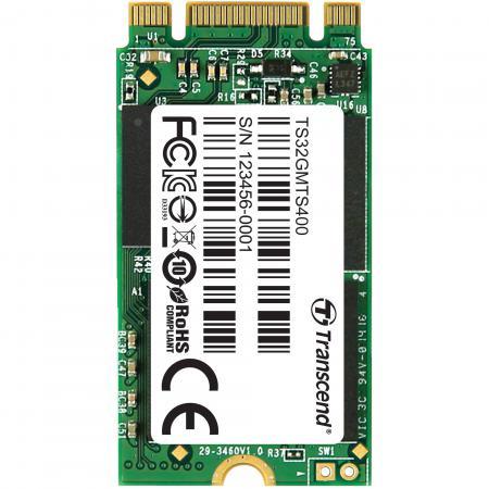 Твердотельный накопитель SSD M.2 32Gb Transcend MTS400 Read 560Mb/s Write 160mb/s SATAIII TS32GMTS400 твердотельный накопитель ssd m 2 128gb transcend mts800s read 560mb s write 460mb s sataiii ts128gmt