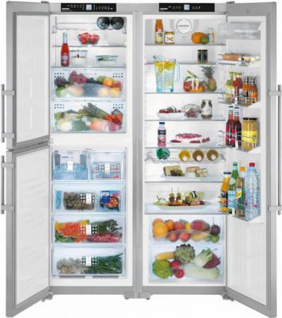 Холодильник Side by Side Liebherr SBSES 7353 серебристый холодильник side by side samsung rs552nrua9m