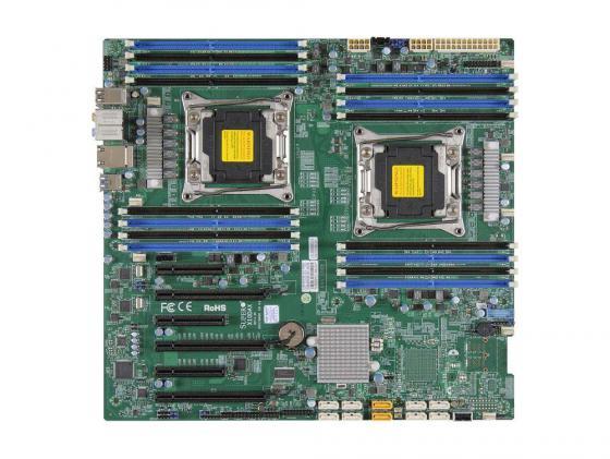 Материнская плата Supermicro MBD-X10DAI-O 2xLGA2011 C612 16xDDR3 3xPCI-E 16x 2xPCI-E 8x 1xPCI-E 4x 10xSATA3 2xGLAN E-ATX цена и фото