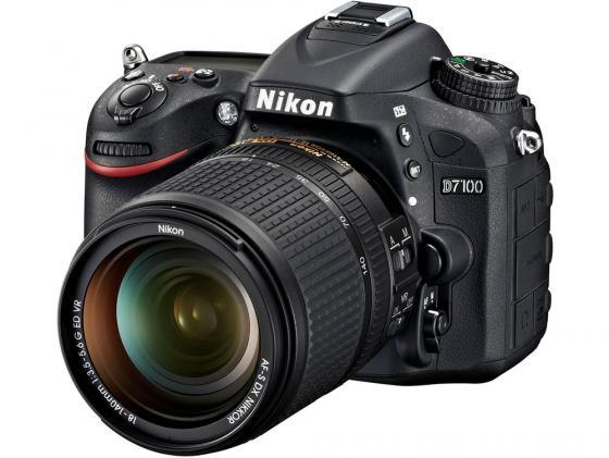 Зеркальная фотокамера Nikon D7100 Kit 18-140VR черный nikon d 5300 kit 18 140 vr черный