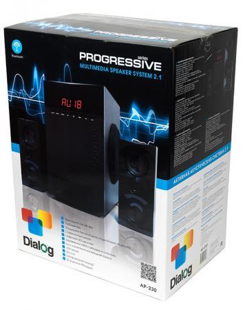 Колонки Dialog Progressive AP-230 2x15 + 35 Вт USB+SD reader черный стоимость