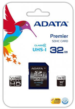 Карта памяти SDHC 32GB Class 10 A-data ASDH32GUICL10-R карта памяти sdhc 16gb class 10 a data asdh16guicl10 r