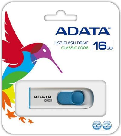 Флешка USB 16Gb A-Data AC008-16G-RWE белый