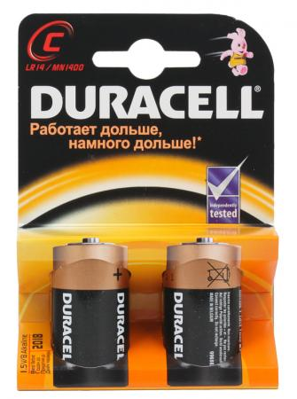 Батарейки Duracell 2BL LR14 2 шт цена и фото