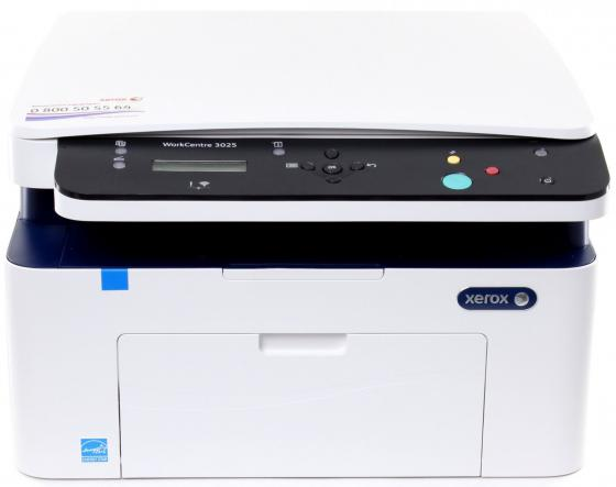 МФУ Xerox WorkCentre 3025V/BI ч/б A4 24ppm 1200x1200dpi 20ppm Wi-Fi USB мфу xerox workcentre 3215ni ч б а4 27ppm автоподатчиком lan wi fi