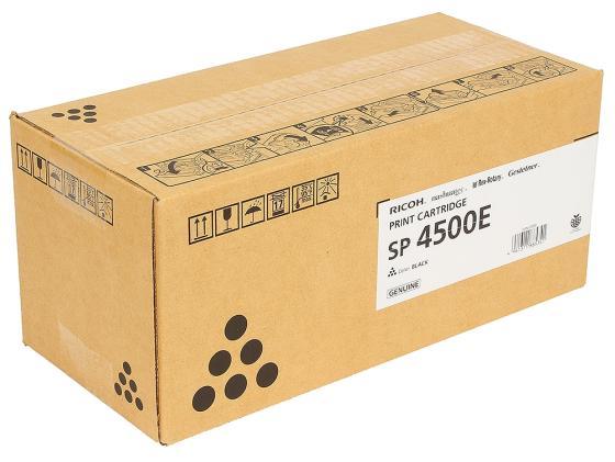Картридж Ricoh SP 4500E для SP 4510DN SP410SF черный 6000стр 407340 перьевая ручка parker urban premium f312 pearl metal ct синий f 1931609