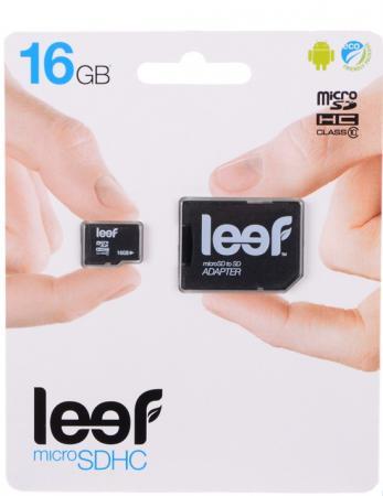 все цены на Карта памяти Micro SDHC 16Gb Class 10 Leef LMSA0KK016R5 + адаптер SD онлайн