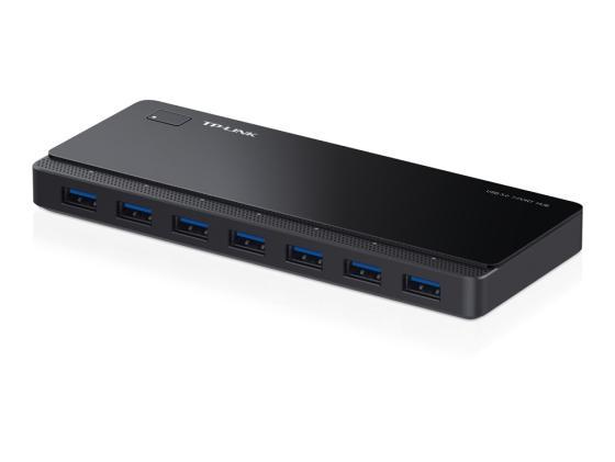 Концентратор USB 3.0 TP-LINK UH700 7 x USB 3.0 черный концентратор usb 3 0 tp link uh720 7 x usb 3 0 черный
