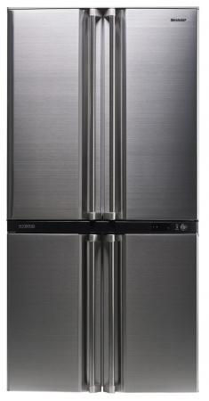 Холодильник Side by Side Sharp SJF95STSL серебристый холодильник side by side samsung rs552nrua9m