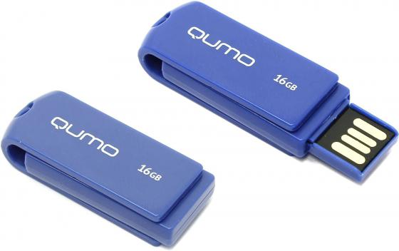 Флешка USB 16Gb QUMO 16GB Twist Cobalt QM16GUD-TW-Cobalt флешка usb 16gb qumo click usb2 0 бело фиолетовый qm16gud clk violet