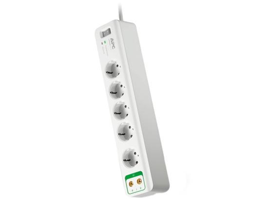 все цены на Сетевой фильтр APC PM5V-RS 5 розеток 1.83 м белый онлайн