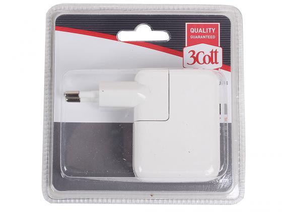 Сетевое зарядное устройство 3Cott 3C-WC-183W-2USB белый 3 183 10 7706178 3