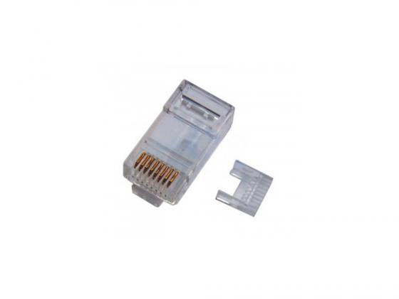 Упаковка коннекторов RJ-45 8P8C для UTP кабеля кат.5 100шт Telecom с вставками разъем itk rj 45 utp для кабеля кат 5е 8p8c cs3 1c5eu