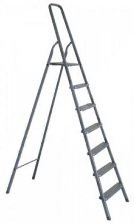 Лестница-стремянка Зубр алюминиевая 7 ступеней 38801-7 стремянка krause monto solido 7 ступеней 126665