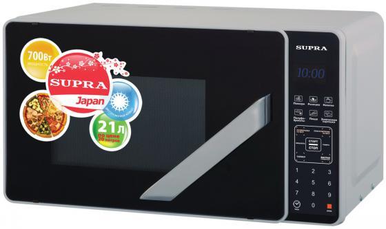 купить Микроволновая печь Supra MWS-2106SS 21 л серебристый недорого