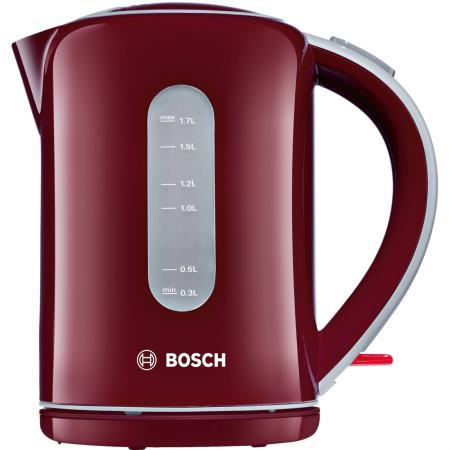 Чайник Bosch TWK-7604 3000 Вт красный 1.7 л пластик чайник bosch twk7603 3000 вт чёрный 1 7 л пластик