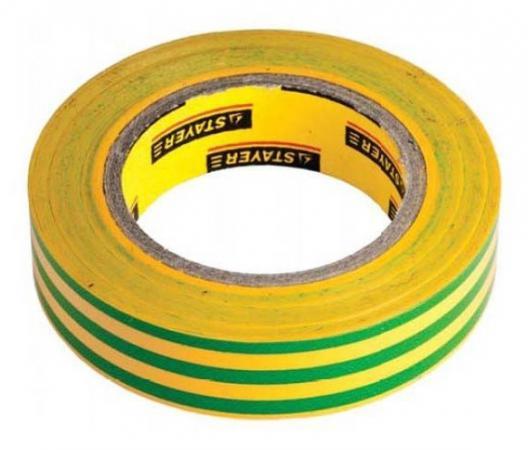цены Изолента Stayer MASTER 15ммx10м желтый/зеленый 12291-S-15-10