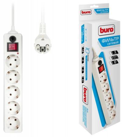 Сетевой фильтр BURO 500SH-3-W 5 розеток 3 м белый