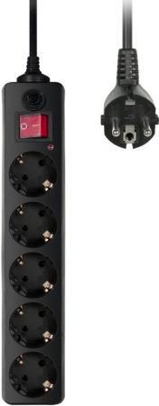 Сетевой фильтр BURO 500SH-1.8-B 5 розеток 1.8 м черный сетевой фильтр buro 500sh 10 b 5 розеток black