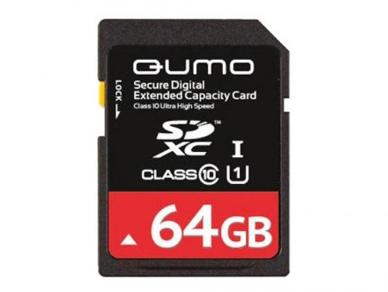 Карта памяти SDXC 64Gb QUMO Class 10 QM64GSDXC10/U1 CL10 sdxc