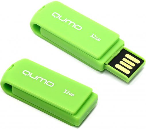 Флешка USB 32Gb QUMO Twist Pistachio USB2.0 зеленый QM32GUD-TW usb флешка qumo keeper 32gb silver qm32gud keep usb 2 0 microusb