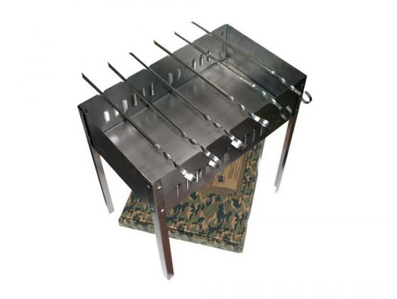 купить Мангал Boyscout 61237 сборный 50х30х50см + 6 шампуров по цене 480 рублей