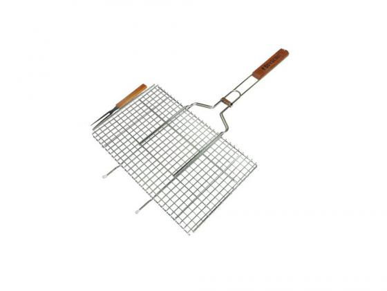 Решетка-гриль Boyscout 61301 для стейков большая с вилкой 70+5x45x27x2cм решетка гамбургер boyscout набор антипригарное покрытие арт 61346 23 23 3 51см