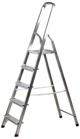 Лестница-стремянка Зубр алюминиевая 5 ступеней 38801-5 стремянка сибин 7 ступеней 38801 7